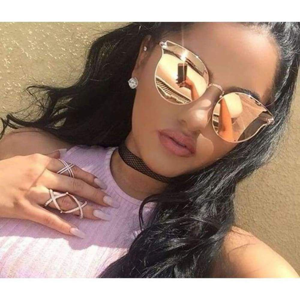8aa22943adf62 ... Cat Eye Rose Gold Mirror Sun Glasses For Female  fashion  clothing   shoes  accessories  womensaccessories  sunglassessunglassesaccessories  (ebay link)