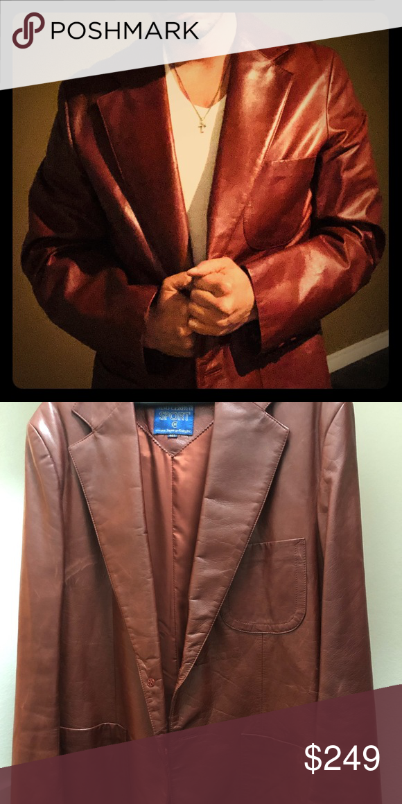 f98778f415d DOPE AF!! Vintage Genuine Leather Sport Coat...Straight Boss Mode!  FANTASTIC CONDITION! 👌🏼 Nino Cerruti Jackets & Coats Lightweight & Shirt  Jackets