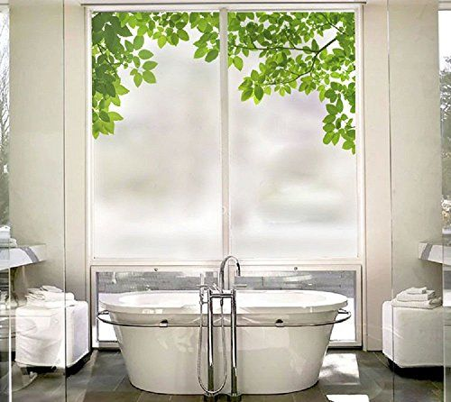 Beyong Life Green Leaves Privacy Window Film Glass Sticke... Https://