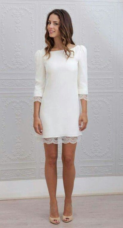 cba646a2e Vestido blanco màs suelto