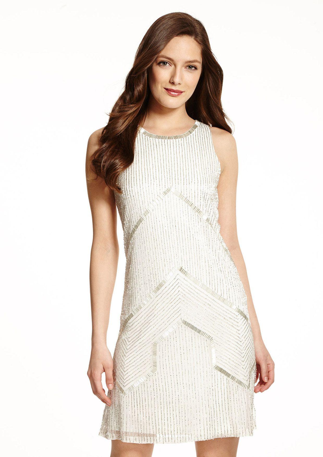 4ad120eb92fee ideeli | ADRIANNA PAPELL Halter Beaded Dress | Products I Love ...