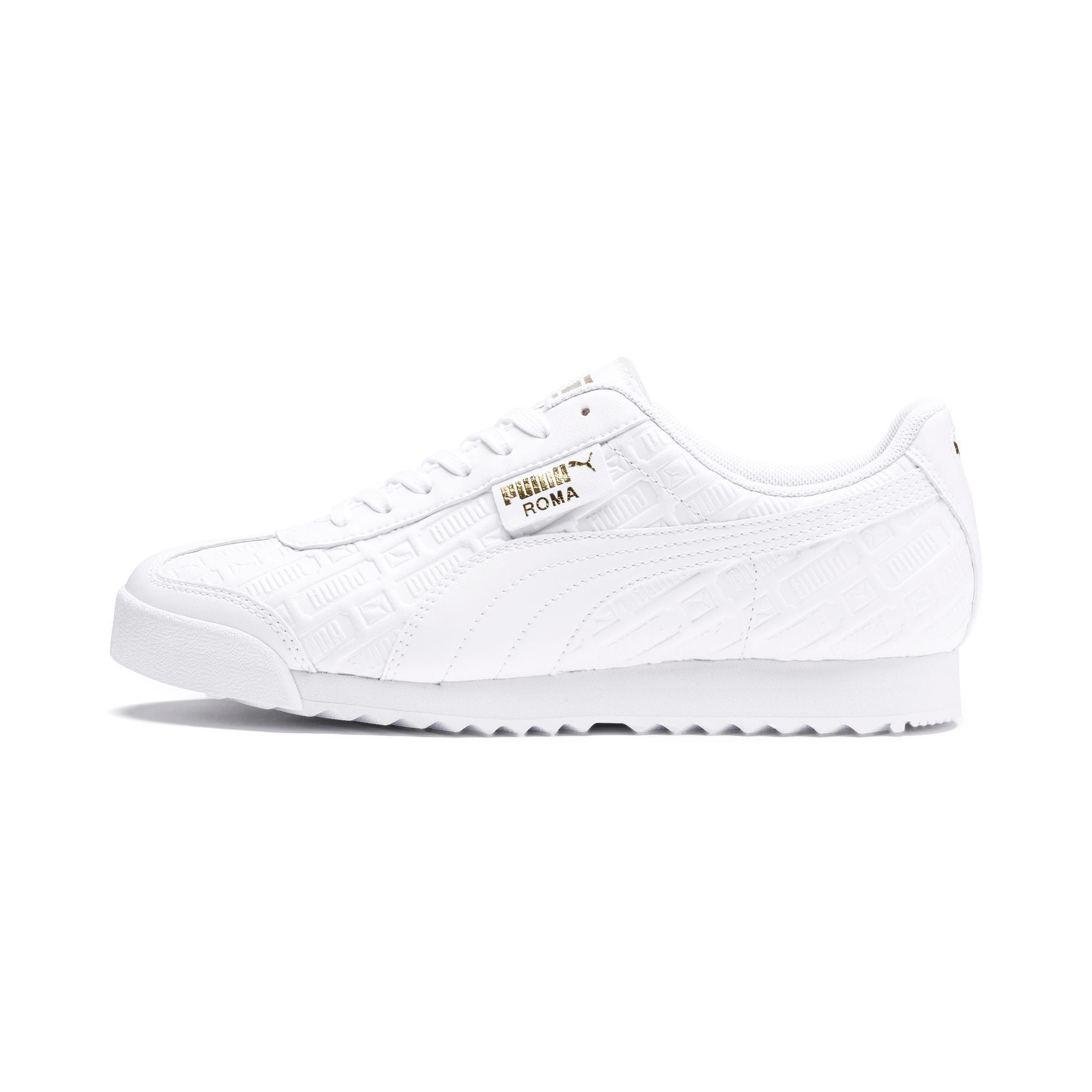 PUMA Roma Reinvent Women's Trainers in White/Gold size 4.5 ...