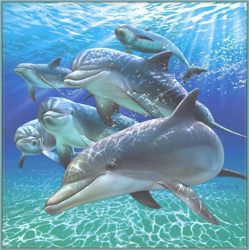 Картинки для декупажа. Дельфины и другие морские обитатели ...