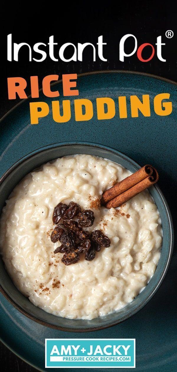 Instant Pot Rice Pudding #instantpotrecipeseasy