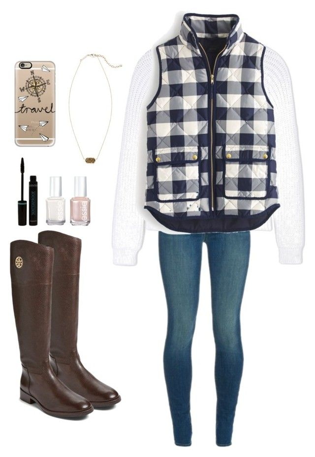 """""""I need to know that when I fail, you'll still be here"""" by kenandsuch ❤ liked on Polyvore featuring J Brand, Calvin Klein Collection, J.Crew, Tory Burch, Kendra Scott, Essie and Casetify"""