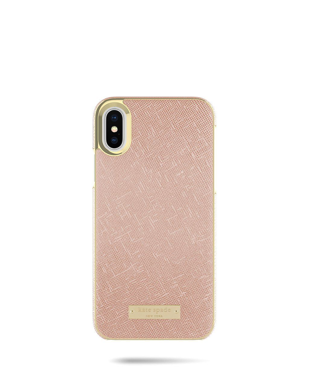 f34e13831b78 Kate Spade Rose Gold Saffiano Wrap Case for iPhone X | Accessorize ...