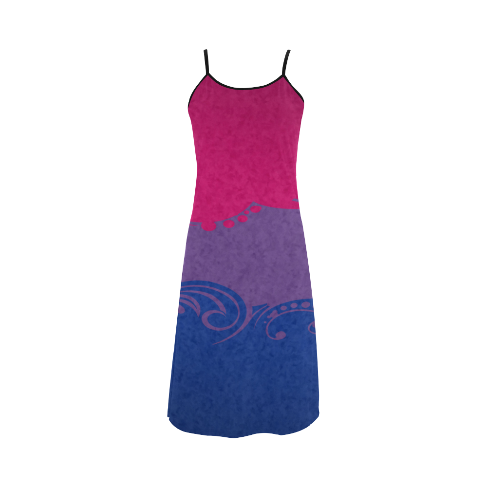 0066146ecf57c Bisexual Ornamental Flag Alcestis Slip Dress (Model D05) | Bisexual ...
