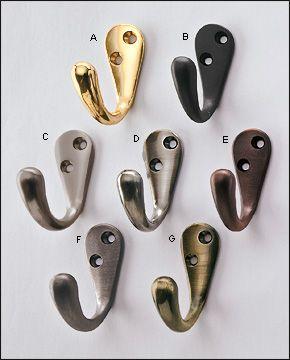Single Coat Hook Coat Hooks Polished Brass Hook