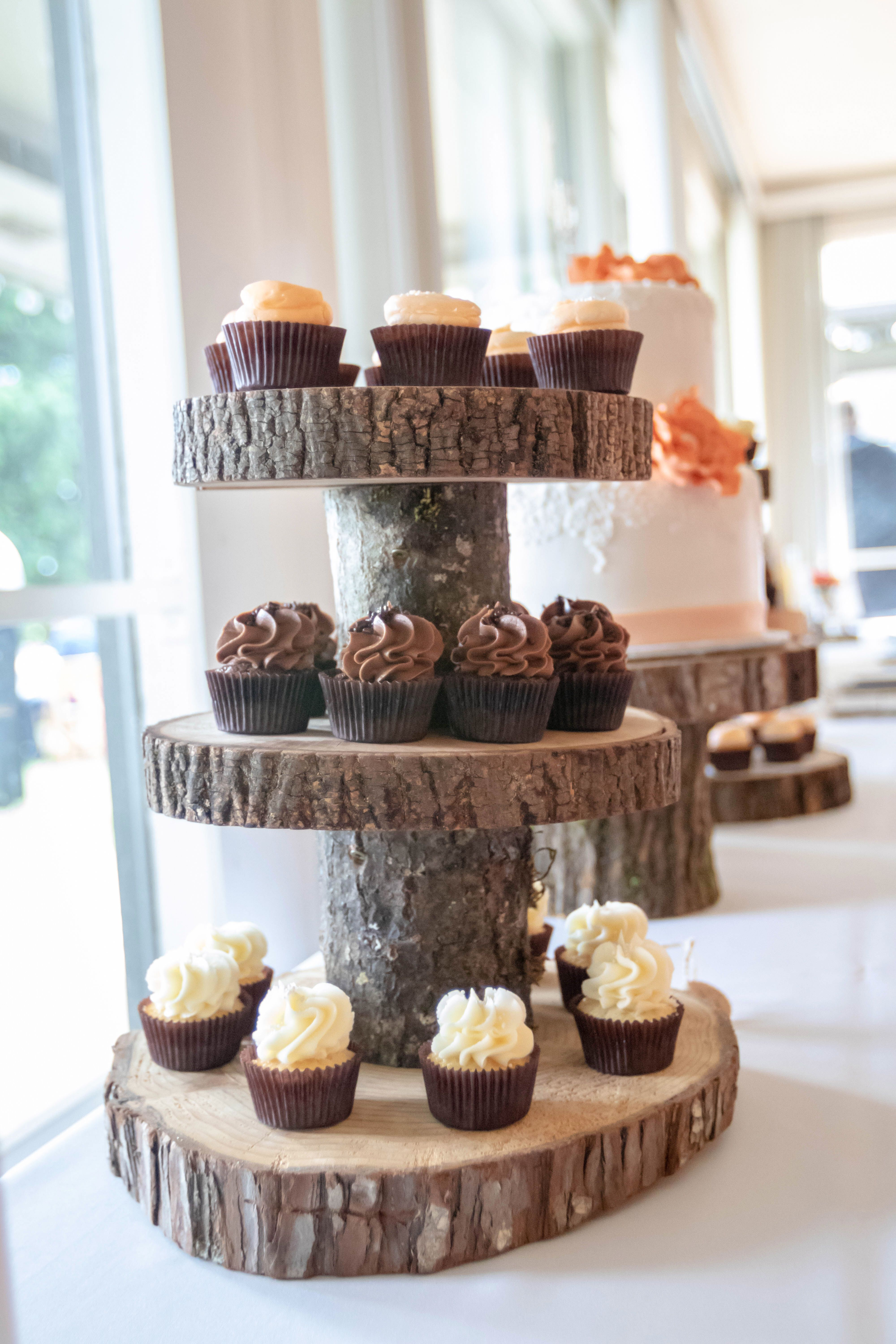 Rustic Cupcake Stand Log Cupcake Stand Tree By Yourdivineaffair