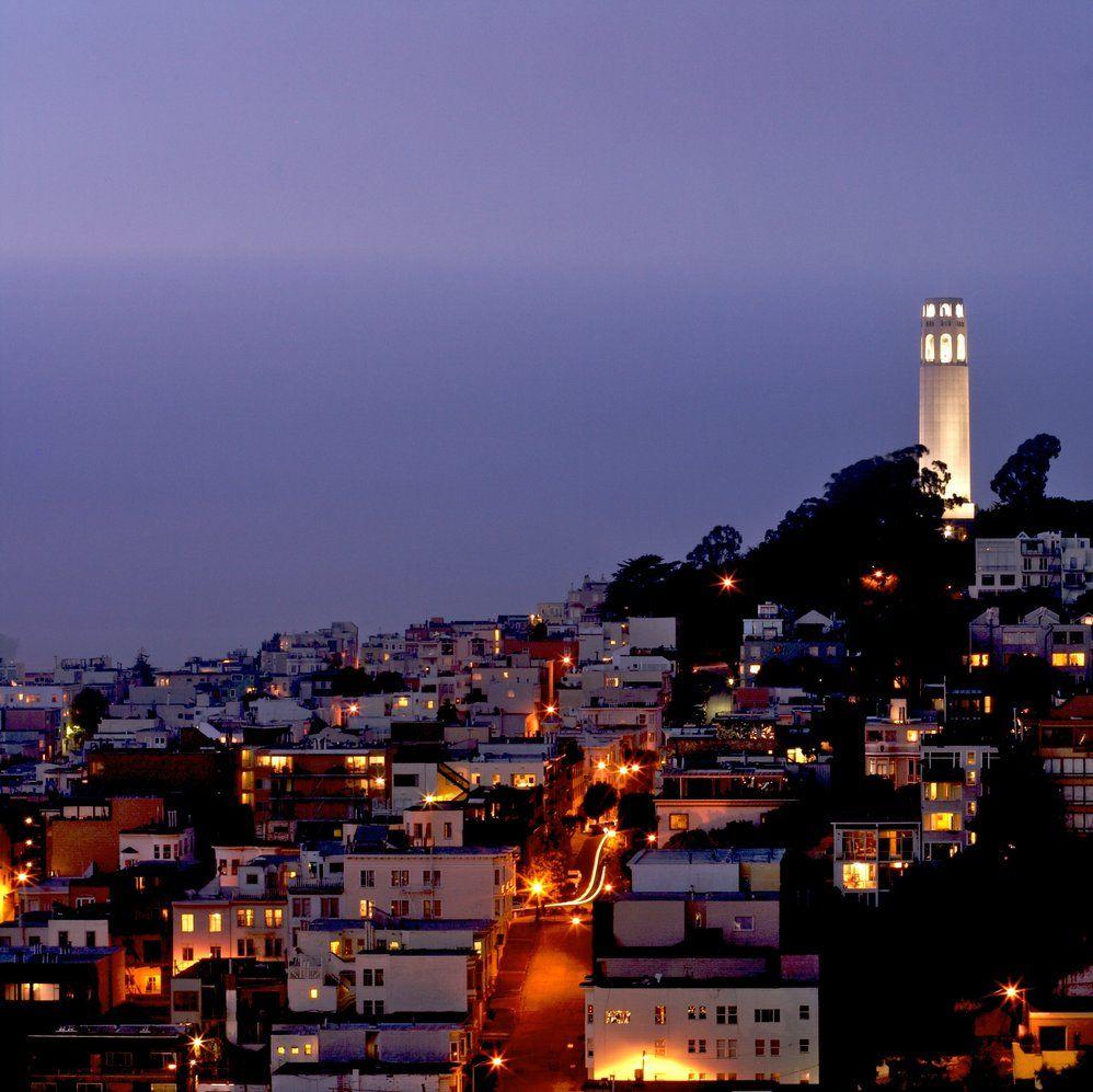 COIT TOWER San+Francisco+City+Street+Lights