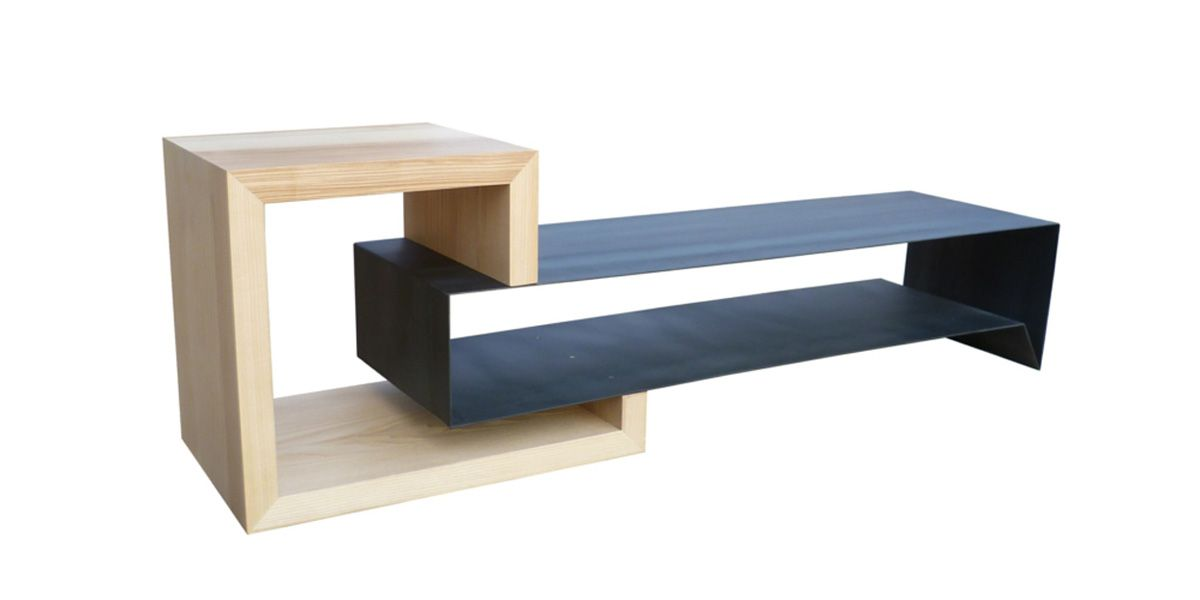 La marque Atelier Mobibois propose un meuble TV déstructuré tr¨s