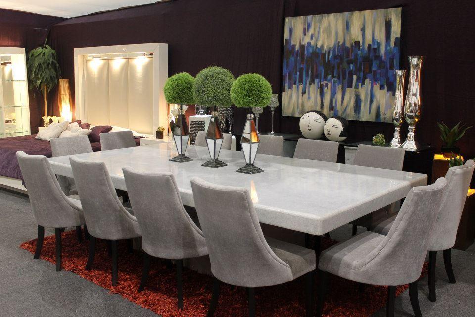 Comedor de m rmol blanco kamara mesa pinterest for Mesas de marmol para comedor