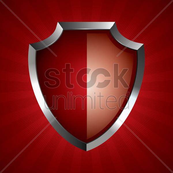 Red Shield Vector Image 1874152 Stockunlimited Desain Banner Desain