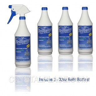 Brilliante Crystal Chandelier Cleaner Manual Sprayer 32oz Environmentally Safe Ammonia Fr 59 95 Crystal Chandelier Dasani Bottle Chandelier
