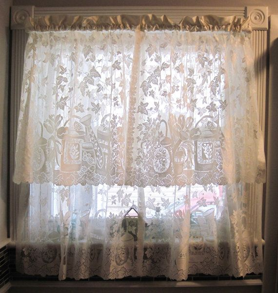 Vintage beige off white color kitchen bathroom small room lace ...