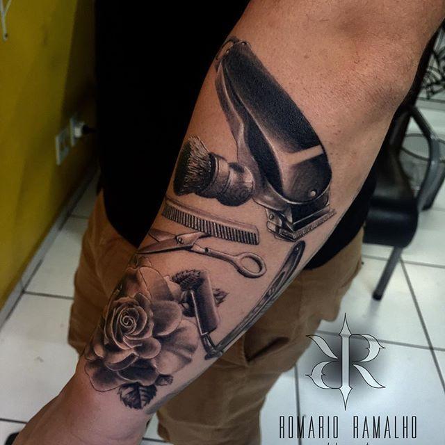 Pin De Melissa Osenbaugh Em Tattoos Tatuagem De Barbeiro