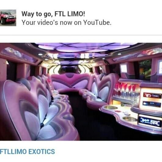 Embedded image permalink  VIEW OUR VIDEOS ON YOUTUBE #ftllimo #exoticlimos #ftl