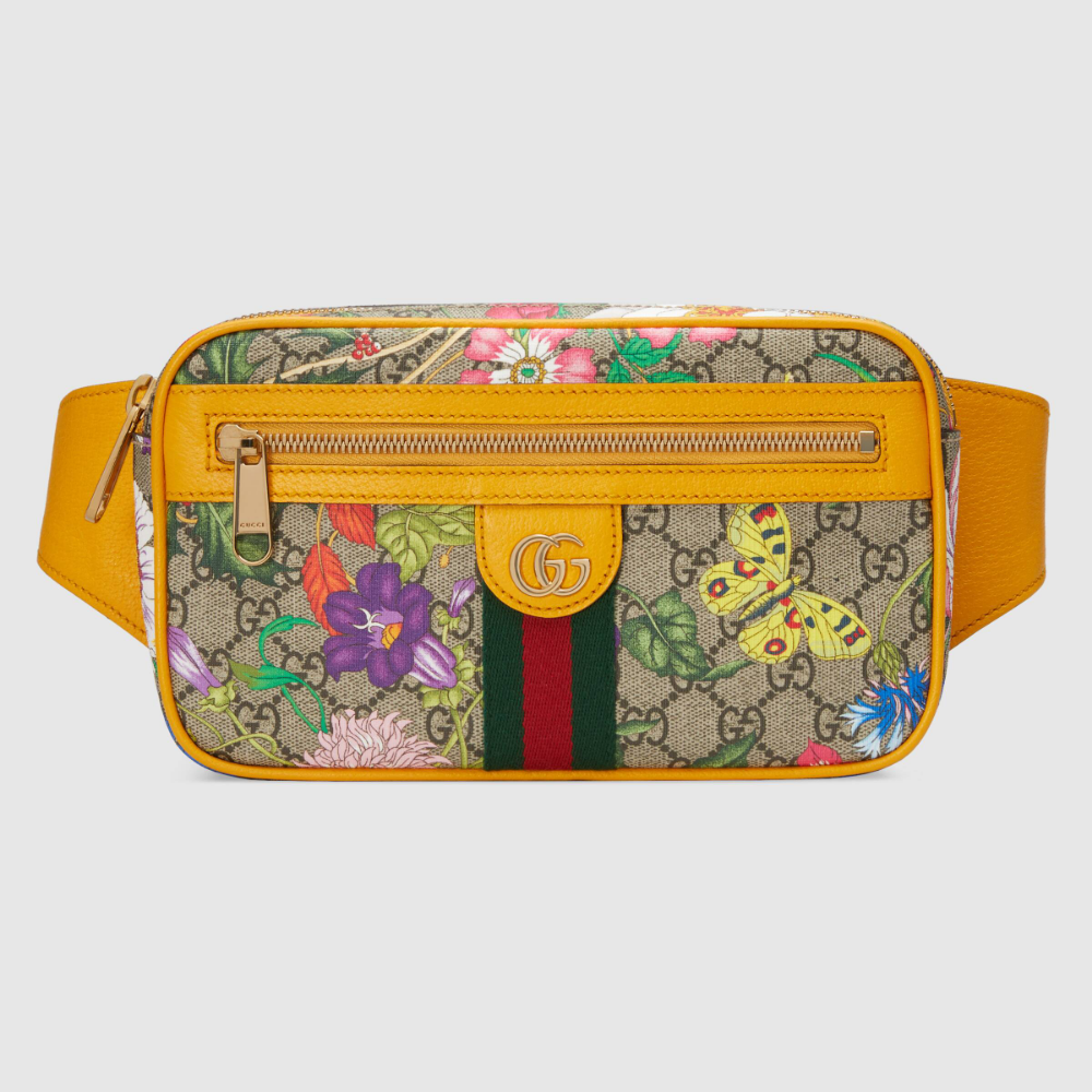 Photo of Gucci Ophidia GG Flora belt bag