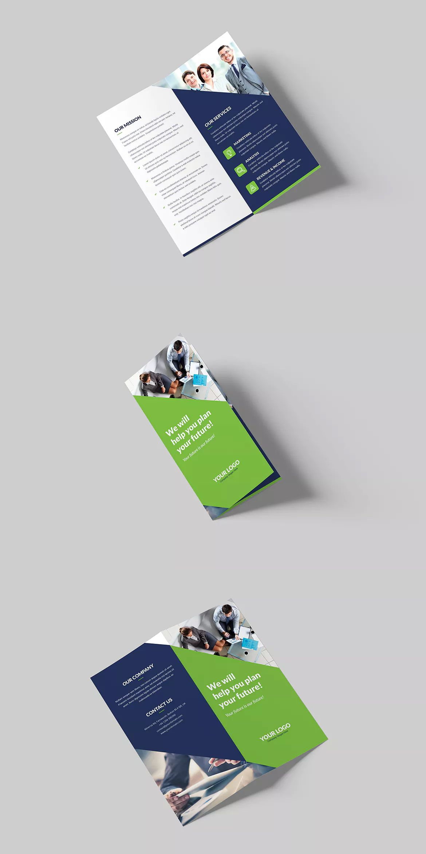 Company Bi Fold Dl Brochure Template Psd Unlimiteddownloads Bi