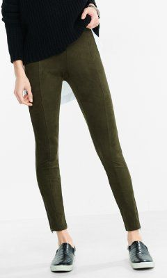 seamed faux suede legging from EXPRESS