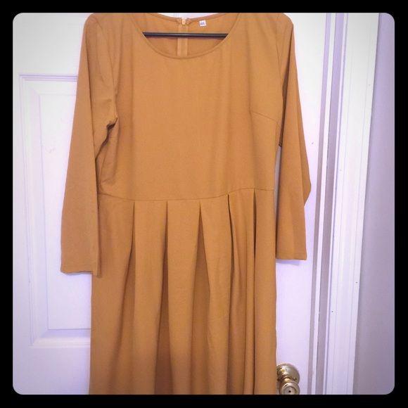e2ec90a2501 Mustard Yellow Dress