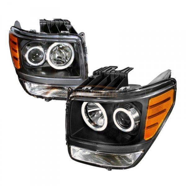 2008 Dodge Nitro Black Ccfl Halo Headlights
