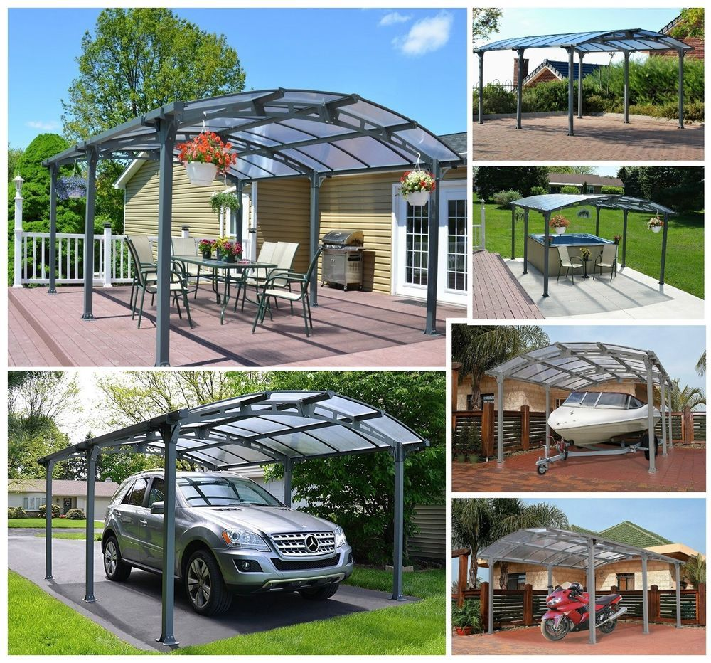Heavy Duty Metal Carport Canopy Gazebo Kit Patio Cover Car