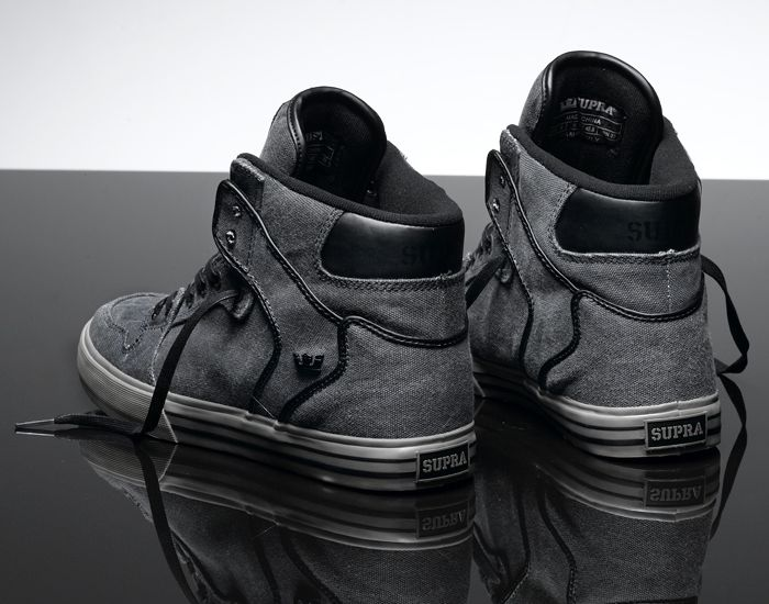 newest 711fb 315dd Supra Vaider Charcoal Canvas Limited Edition - want now