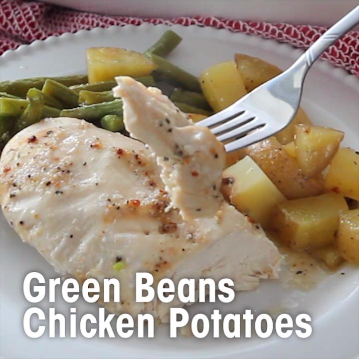 GREEN BEANS, CHICKEN & POTATOES images