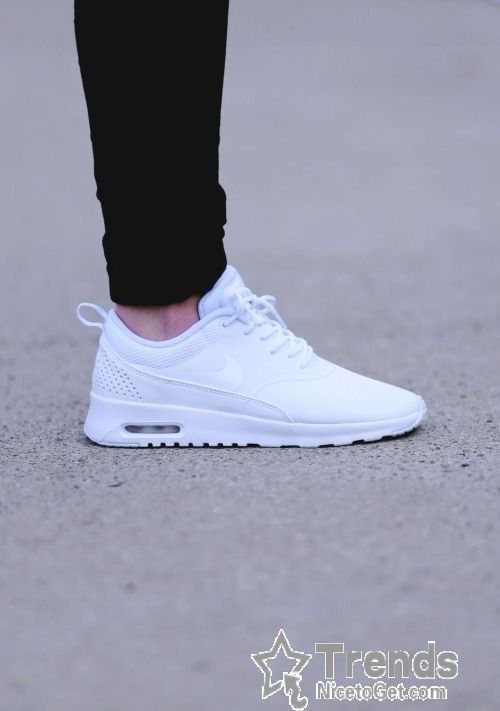 white nike air max thea mens