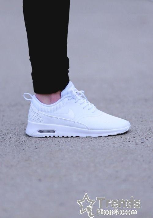 Nike Air Max Thea Mens Womens All White Premium White Nike Shoes Nike Free Shoes White Nikes