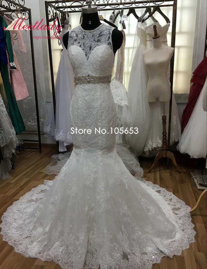 Click to buy ucuc real show elegant plus size mermaid wedding dress