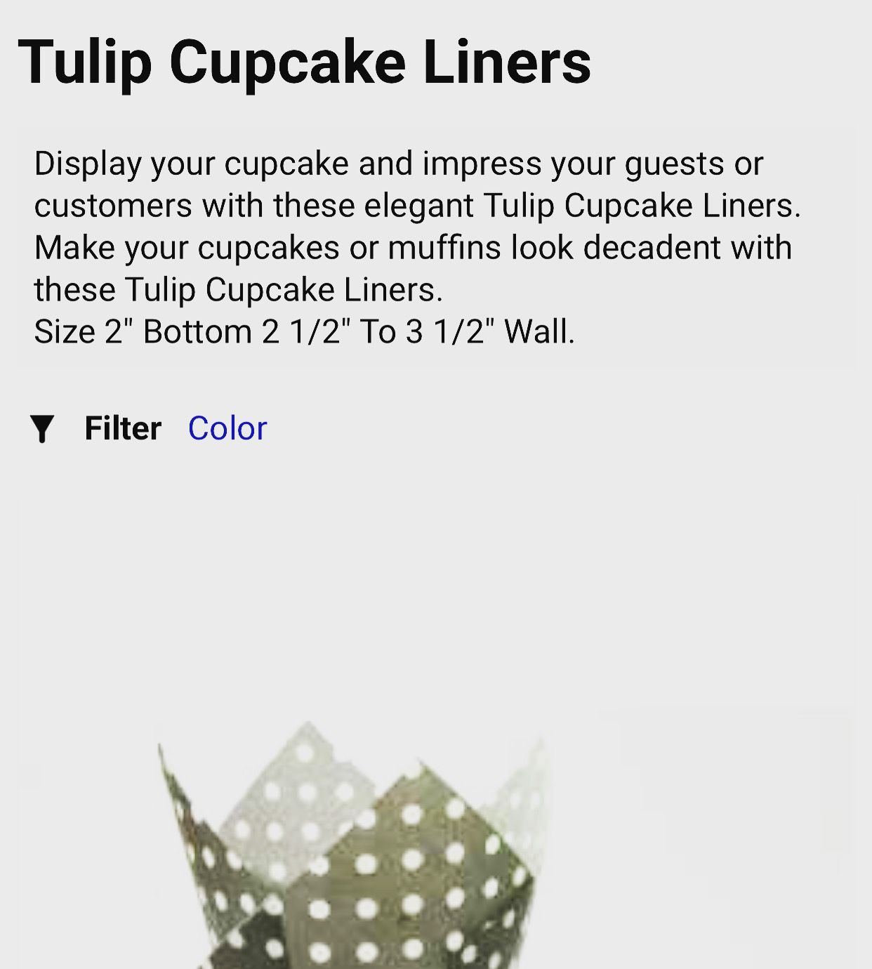 S Pcakewrappers Category Tulip Cupcake