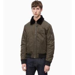 Photo of Calvin Klein Bomberjacke mit Shearling-Kragen 56 – Sale Calvin Klein