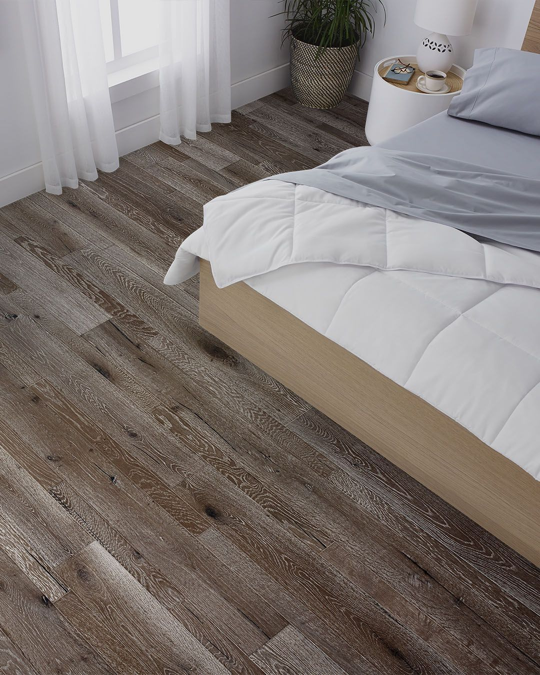 Modern Reclaimed Oak Grey Wood Floors Bedroom Grey Wood Grey Wood Floors