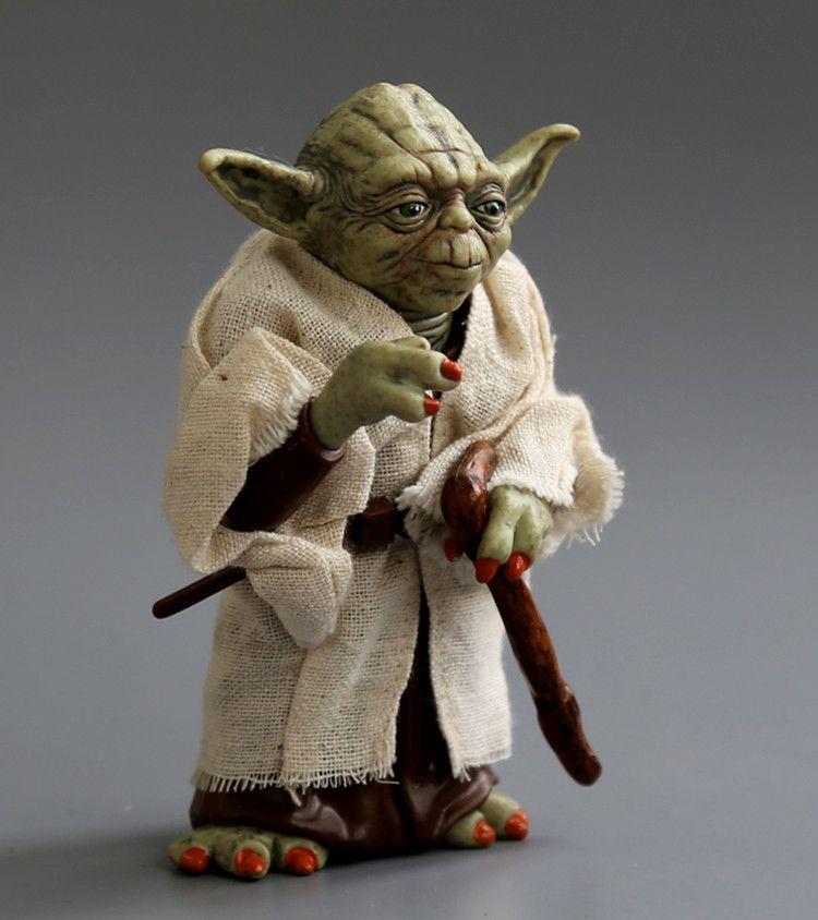 Disney Master Yoda 12CM PVC Action Figure Model Movie Posture Anime Collectible