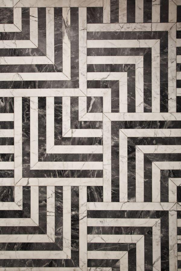 High-Contrast Floor Pattern   Kelly Wearstler