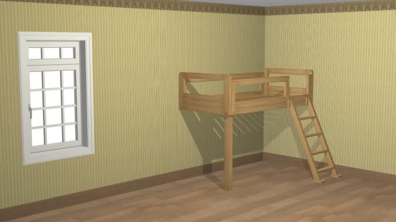 Plywood loft bed plans  Joanne Rocheleau petenyma on Pinterest