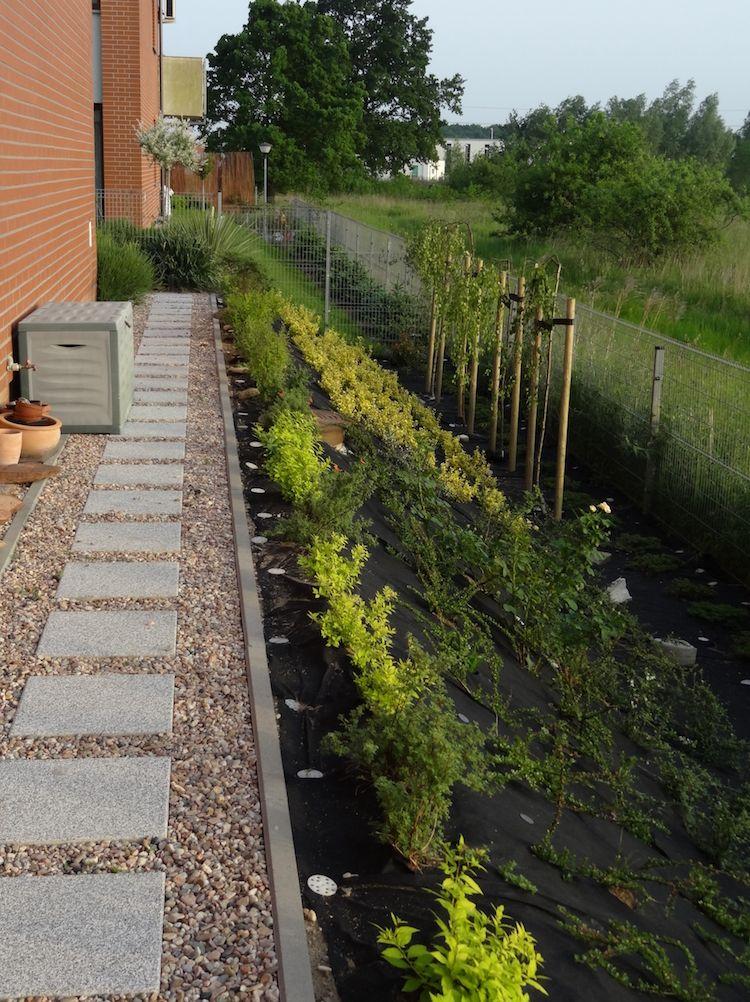 gartengestaltung-hanglage-hintergarten-gehweg-terrassenplatten-kies