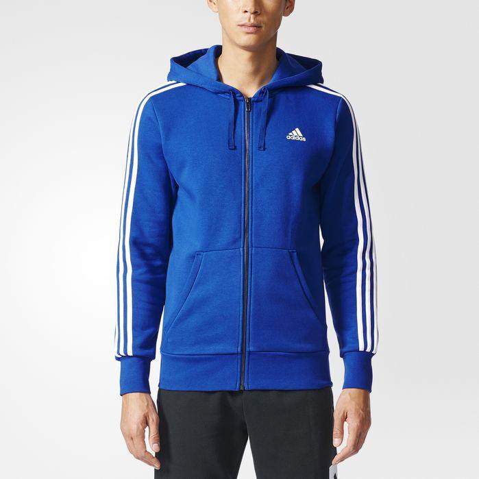 Essentials 3 Stripes Fleece Hoodie | Adidas men, Fleece