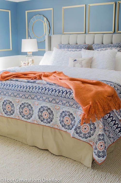 Best Gorgeous Navy Blue Gold Master Bedroom Makeover Blue 400 x 300
