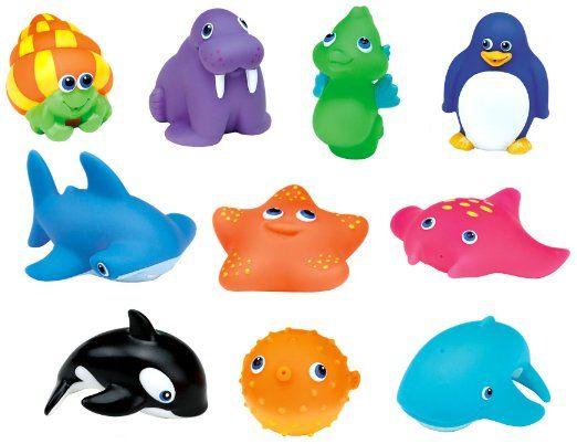 Munchkin 8 Squirtin Farm Buddies Baby Bath Toys 8 pack