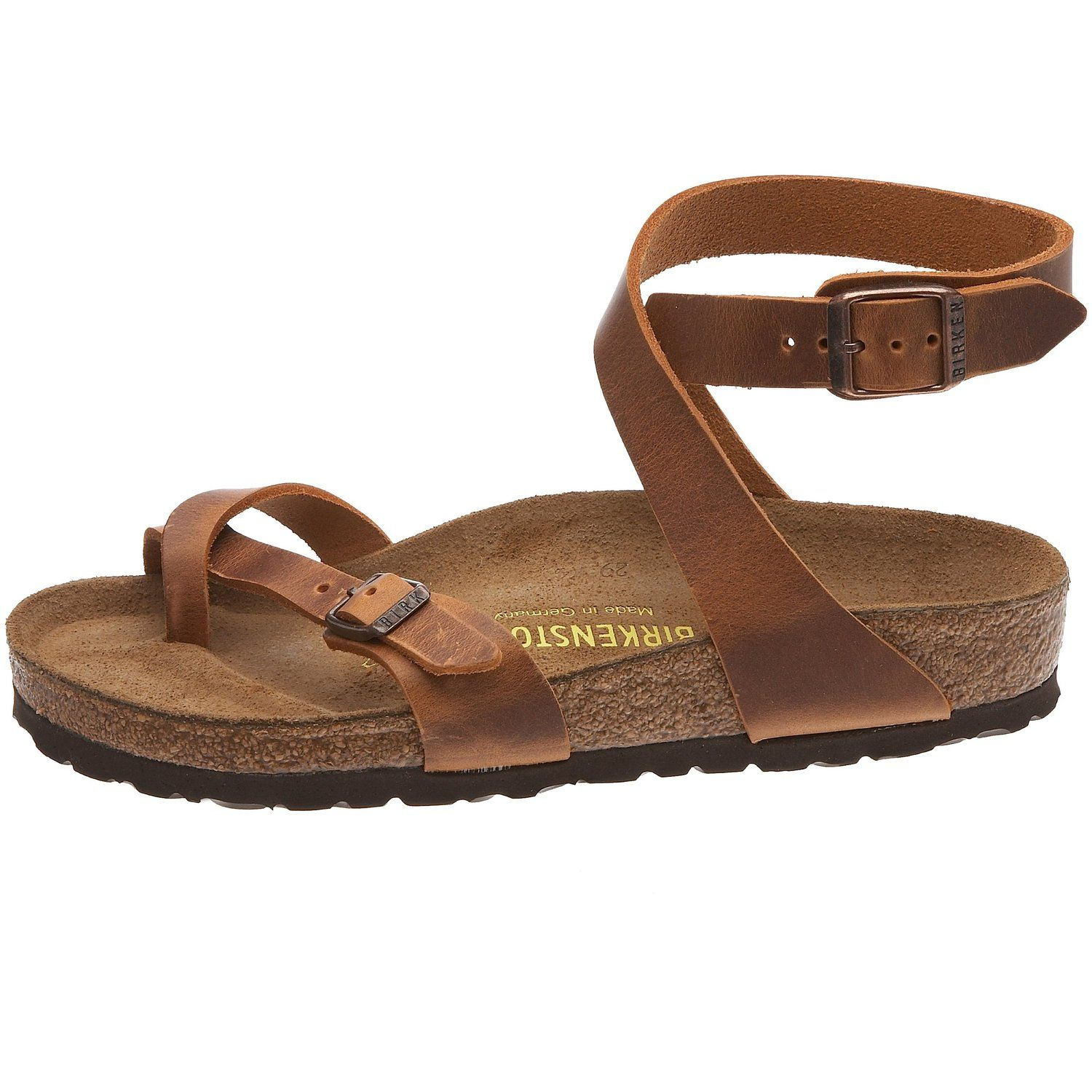 48fb2eea062 Amazon.com  Birkenstock womens Yara from Leather Thong  Clothing