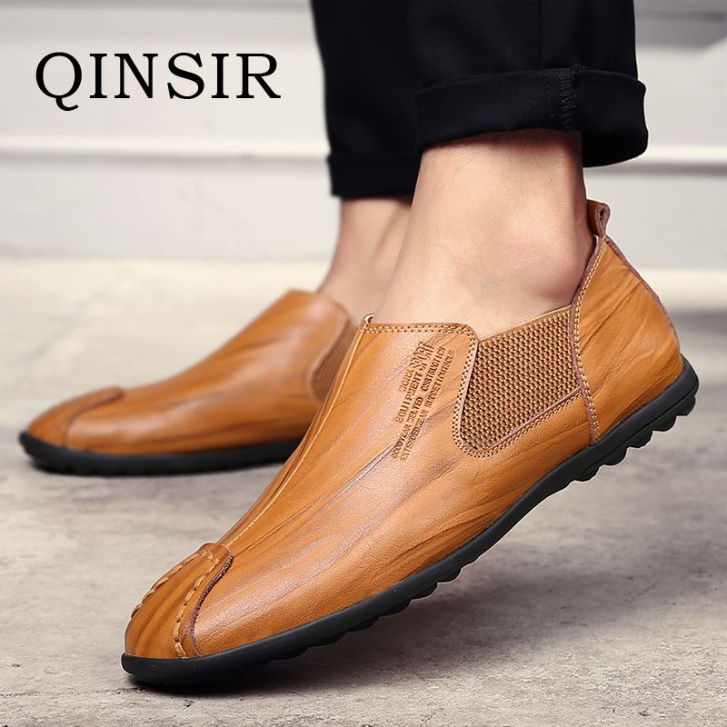 Mens Fashion Casual Shoes Slip On Breathable Men Flat Driving Moccasins  High Quality Men Loafers Italian Genuine Leather Shoes 77ee2baf8c29