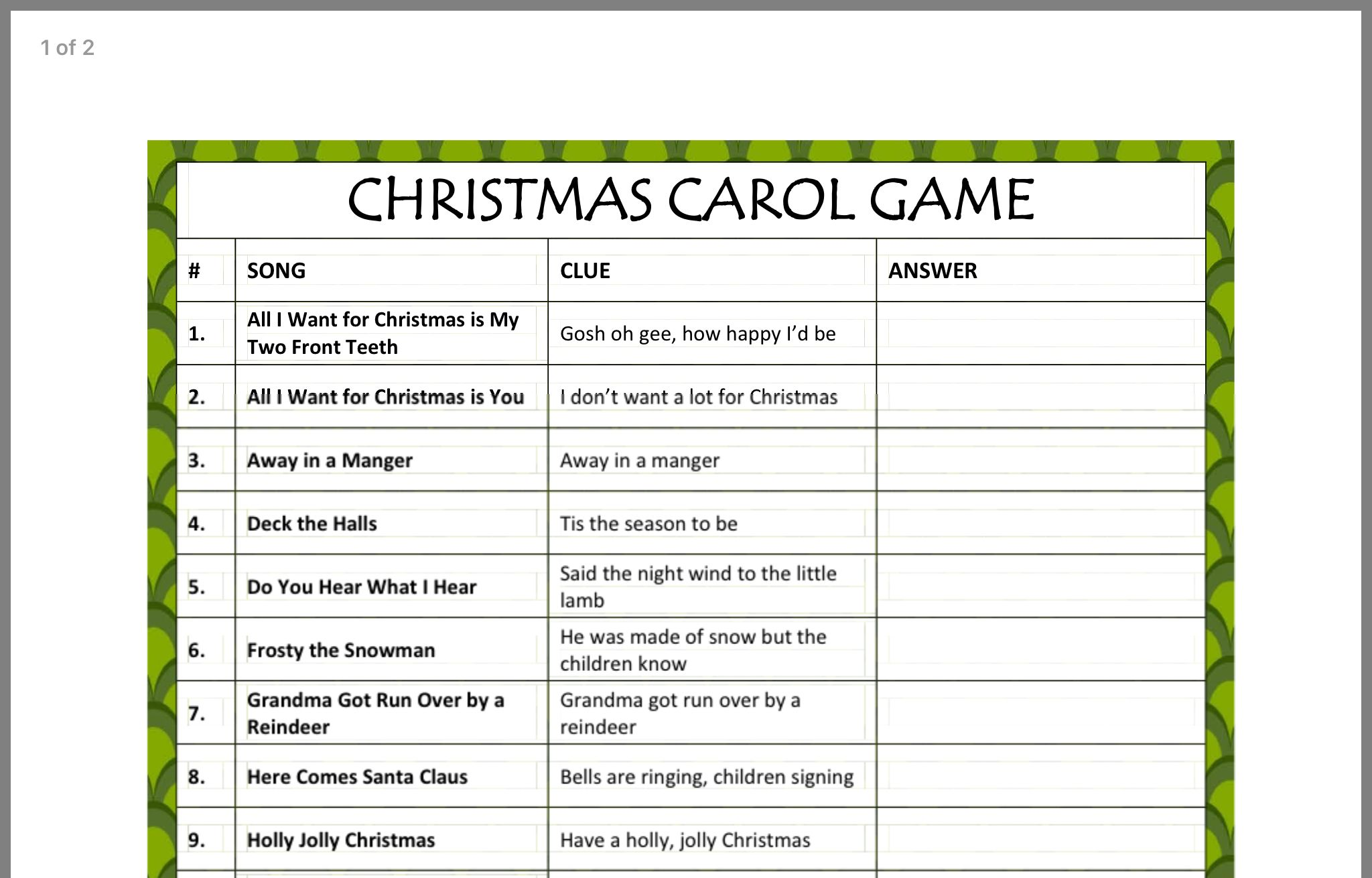 Pin by Teresa Michael on Christmas (With images) | Christmas carol game, Christmas carol ...