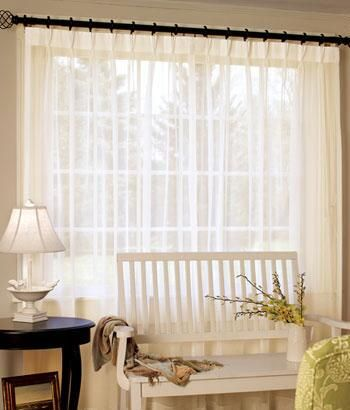 Rod Pocket Curtains D Country Pinch Pleat Sheer 96 Wide