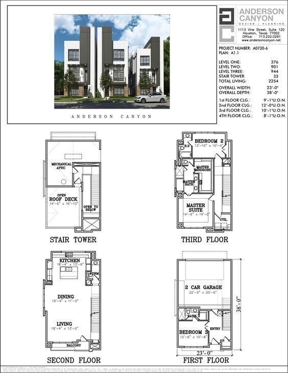 Townhouse Plan A0730 A1.1