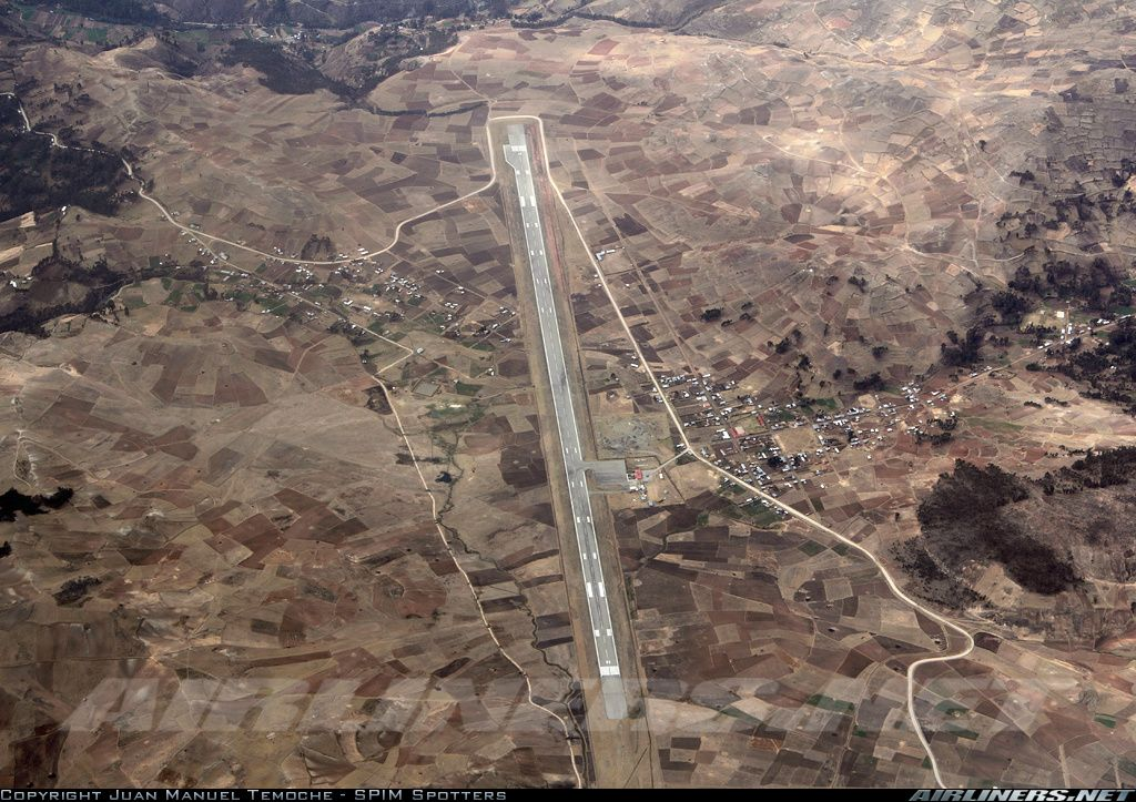 Andahuaylas  (ANS / SPHY) airport located at 11,299 ft. In route Arequipa - Ayacucho crossing the Andes