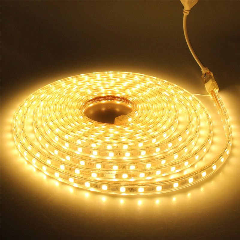 LED Strip 220V 240V  Waterproof 5050 SMD LED  Warm Blue Day White 230V