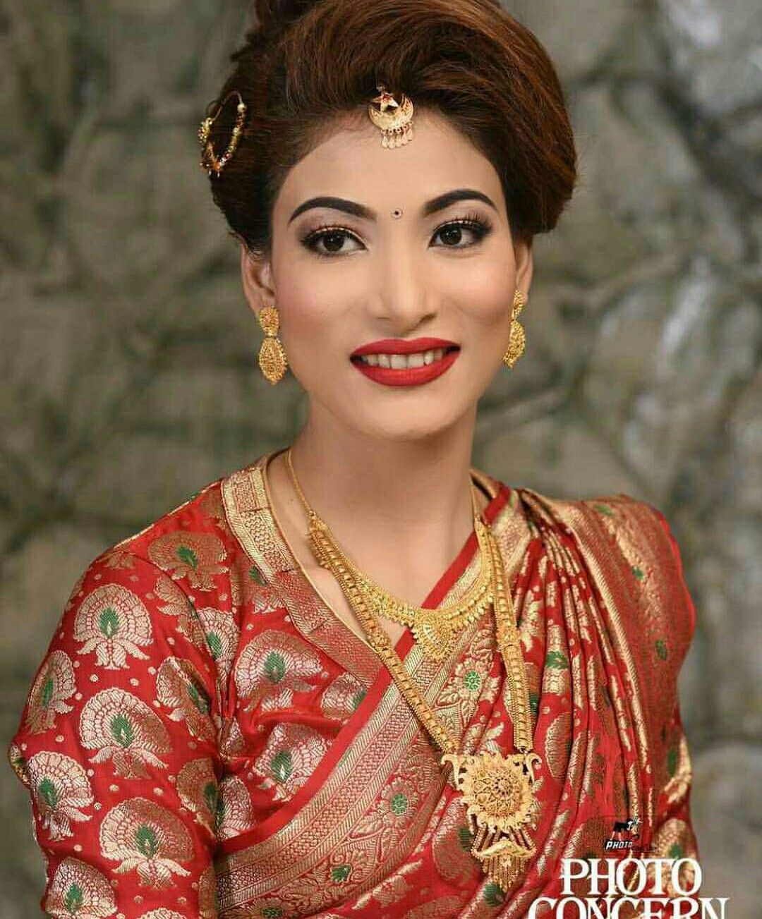 Nepali Wedding Tradition Nepal Marriage Bride Makeup Simple Saree Dress Bridal Wear Bridal Outfits Bridal Looks